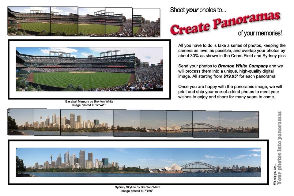 Shoot your photos to create panoramas of your memories!